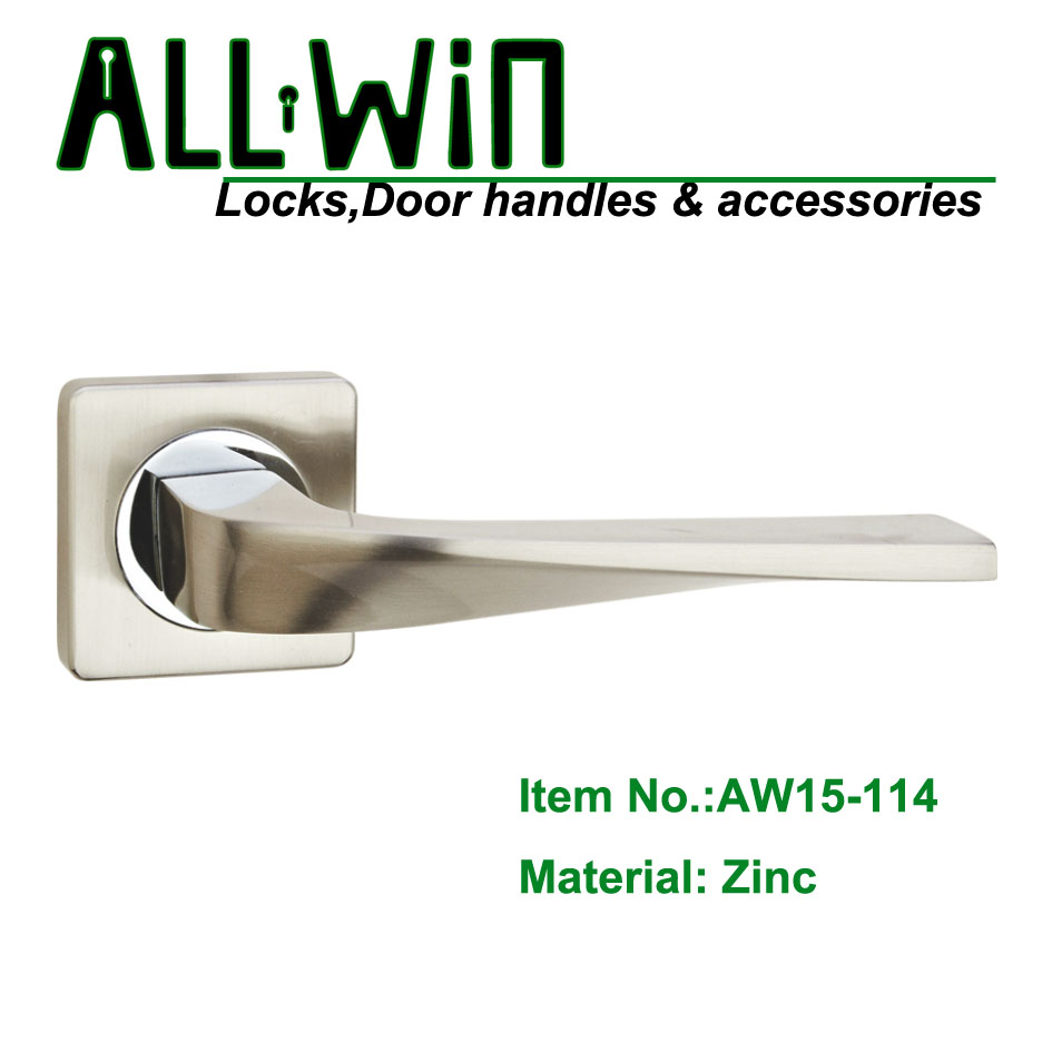 AW15-114 Square Rosset Modern Door Lever Handle