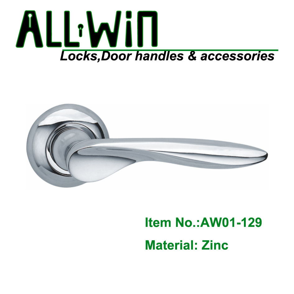 AW01-129 Chrome Plated Door Handle Lever