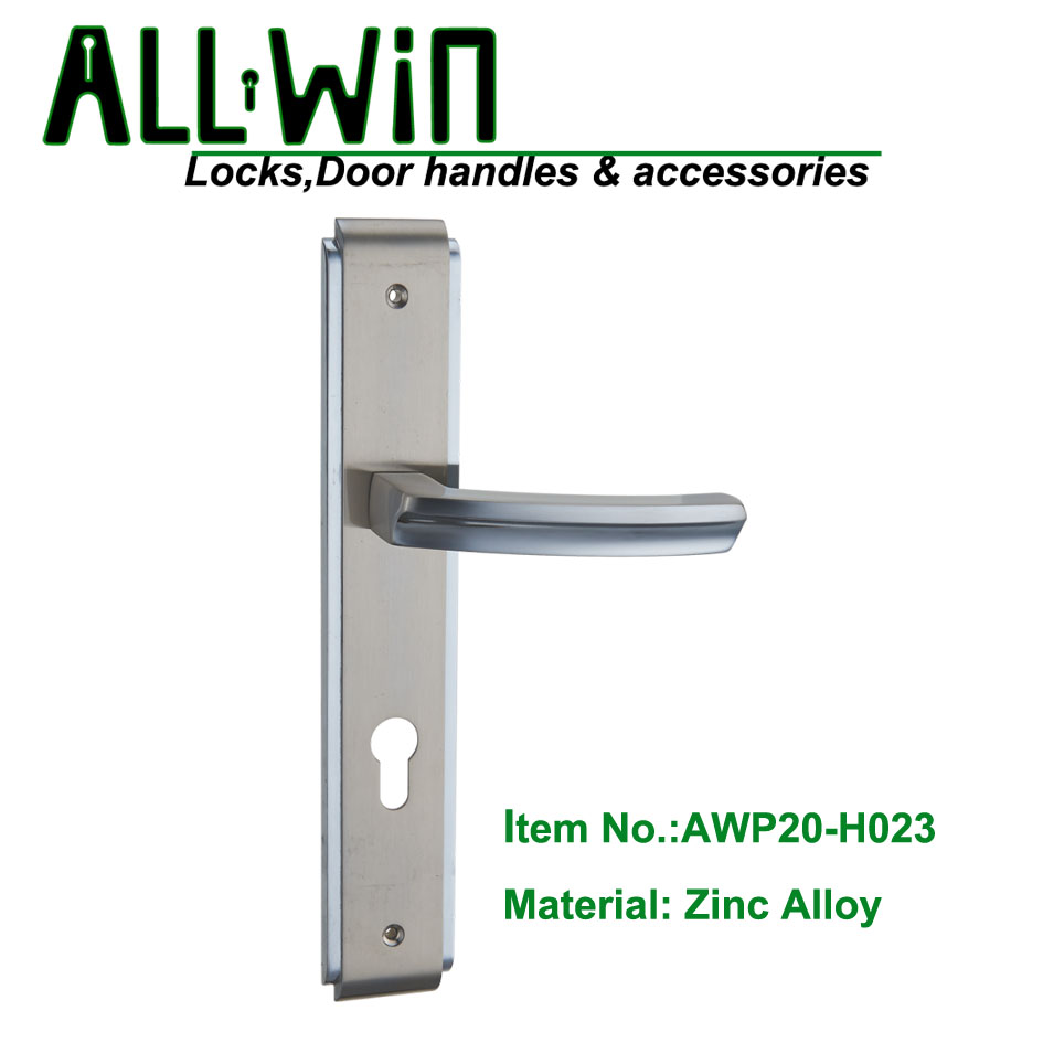 AWP20-H023 Modern Door Handle On Plate DUBAI