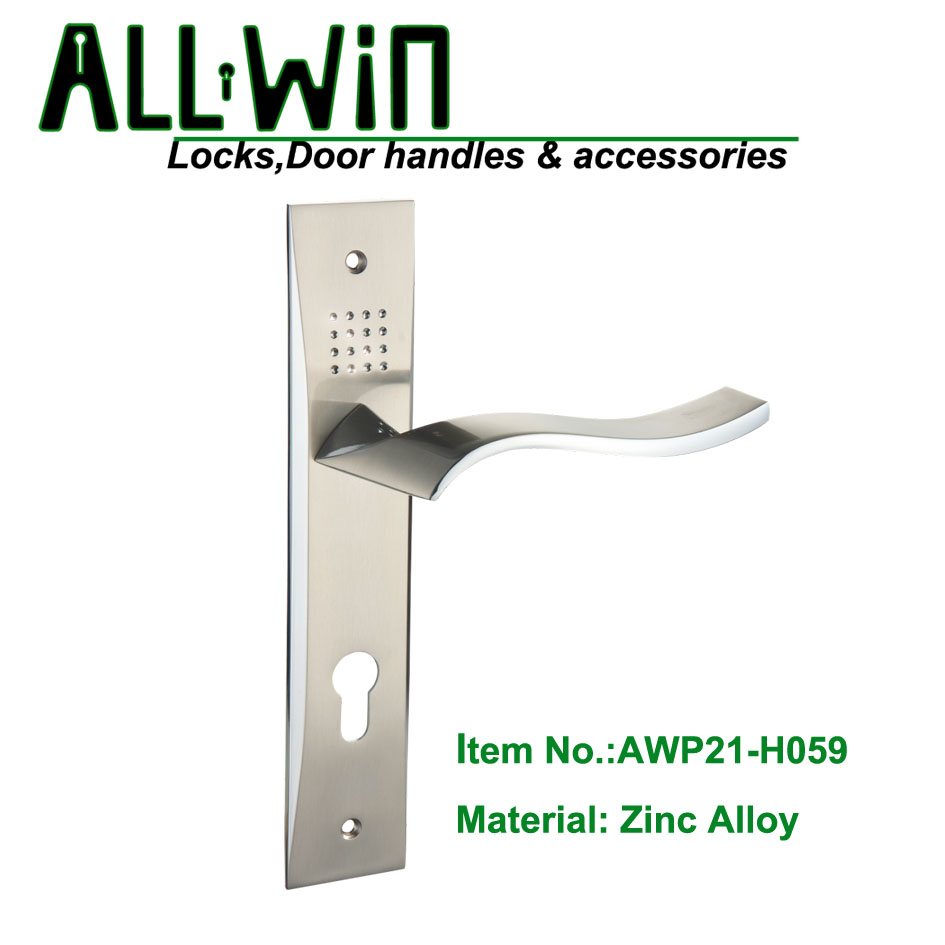 AWP021-H059 Best Selling Door Handle on Plate