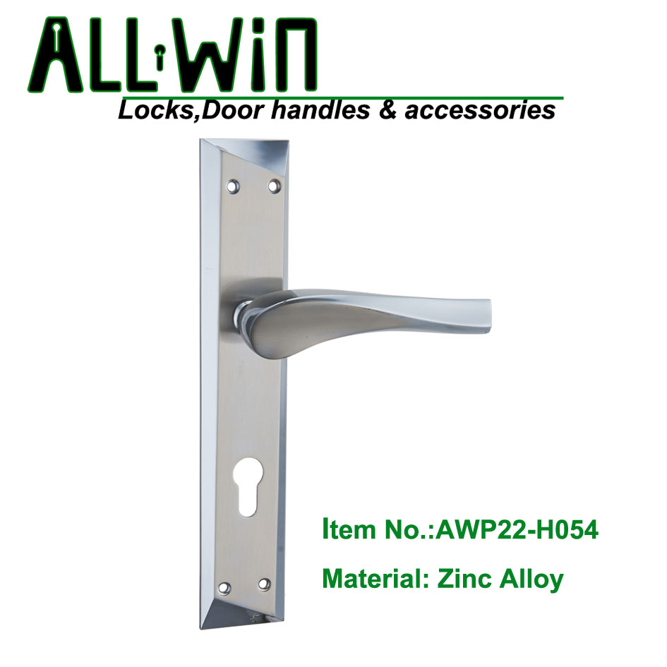 AWP22-H054 Quality Door Handle on Plate