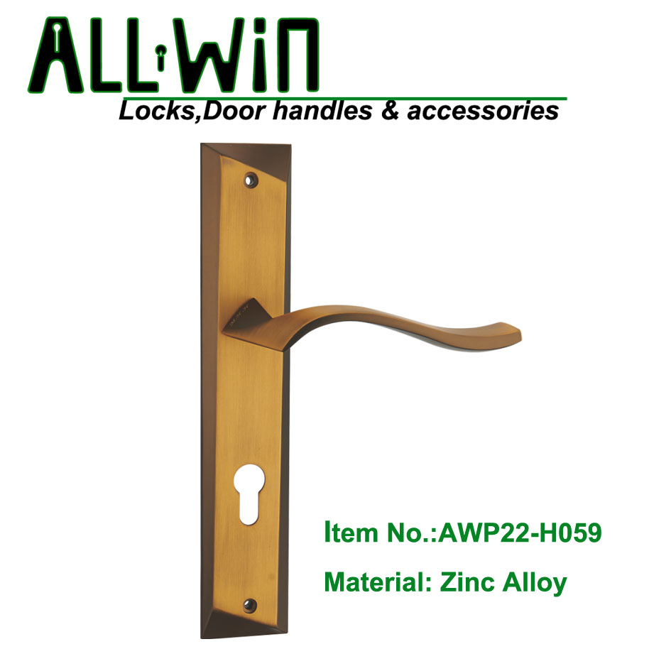 AWP22-H059 New Design Door Handle on Plate