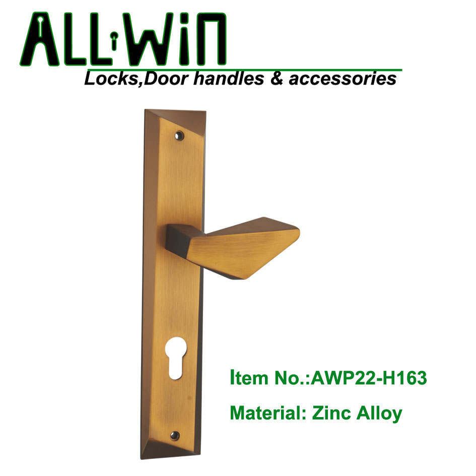 AWP22-H163 Fresh Design Door Handle on Plate