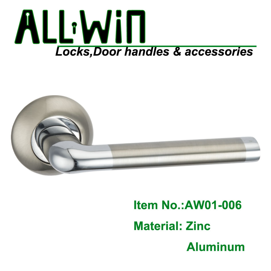 AW01-006 Europe Zamak Door Handle on Rosset