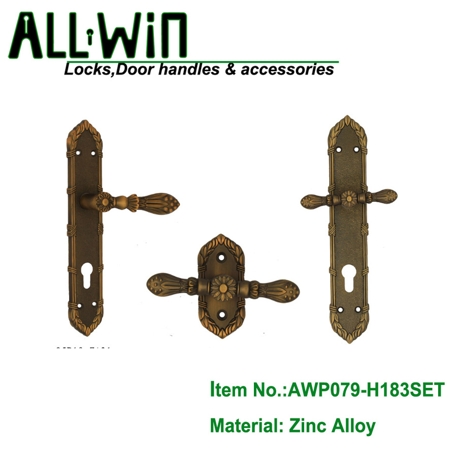 AWP079-H183SET Oversized Egypt Door Hardware