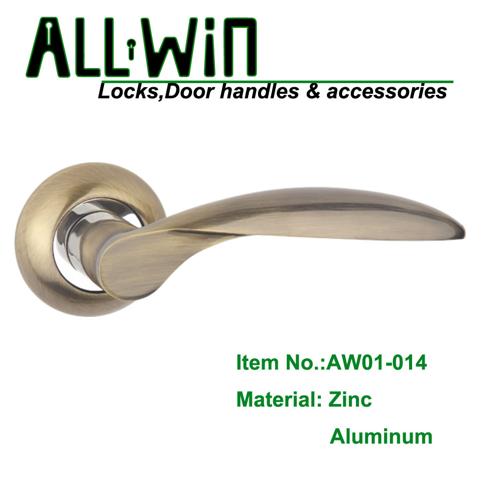 AW01-014 Cheapest Door Handle on Rose
