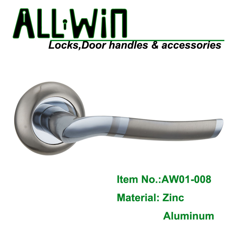 AW01-008 Interior Wooden Aluminum Door Handle Russia