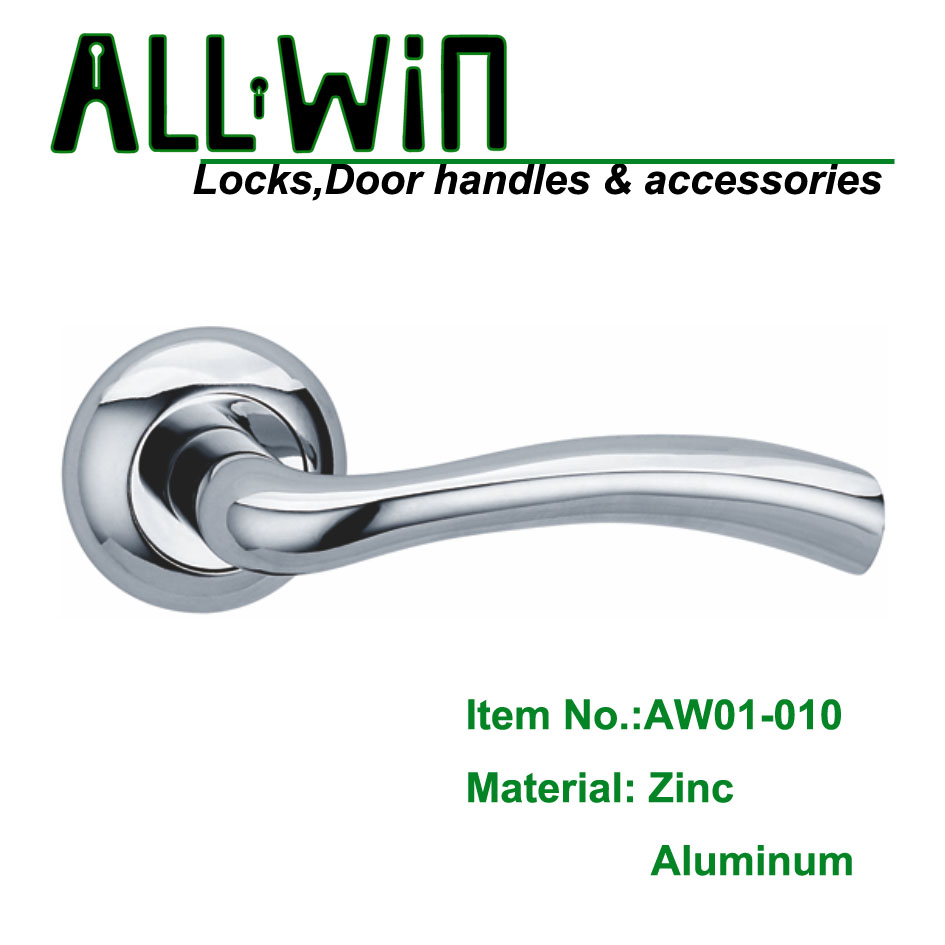 AW01-010 Aluminum Door Handle On Rose for Sale
