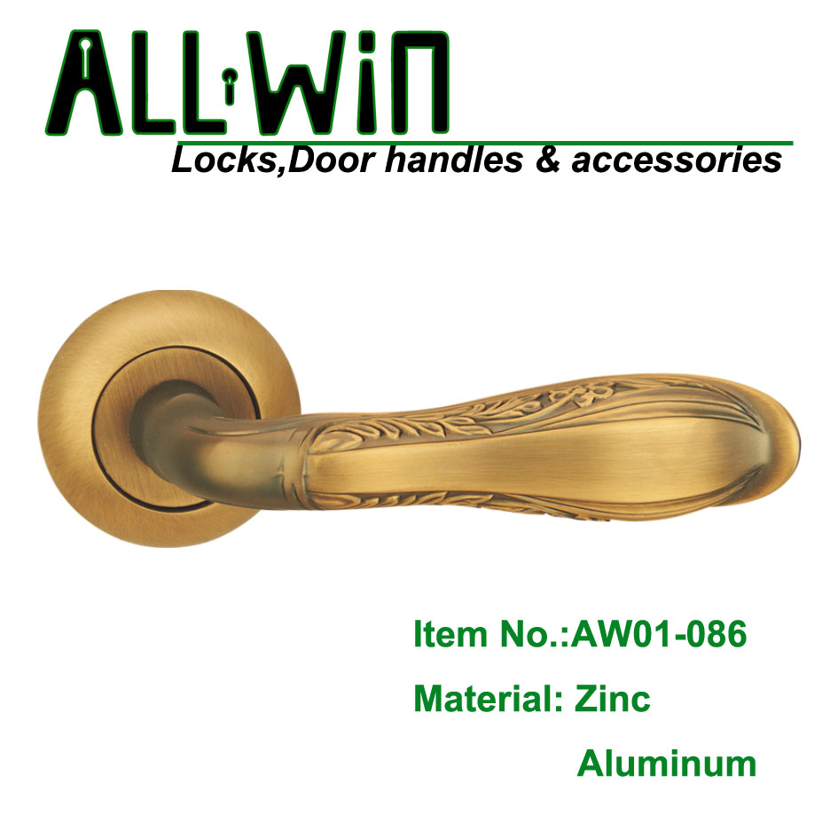 AW01-086 Russia Aluminum Door Handle COFFEE color