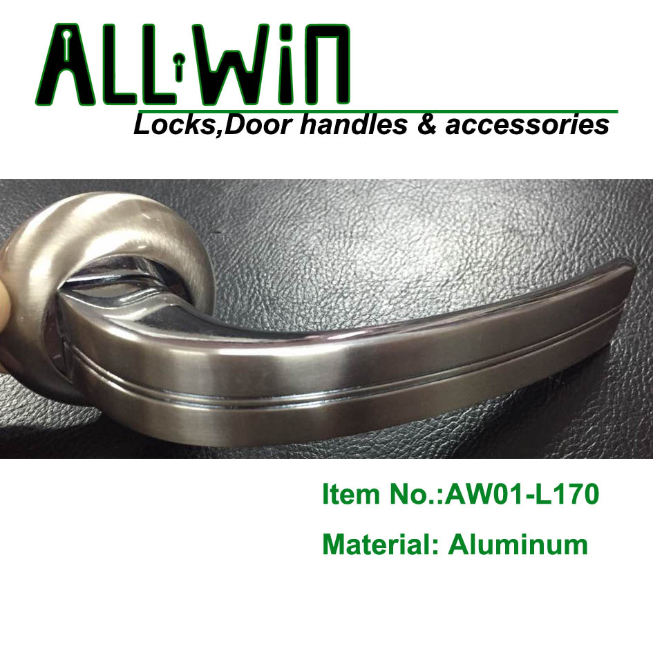 AW01-L170 Ukraine Aluminum Door Handle on Round Rose