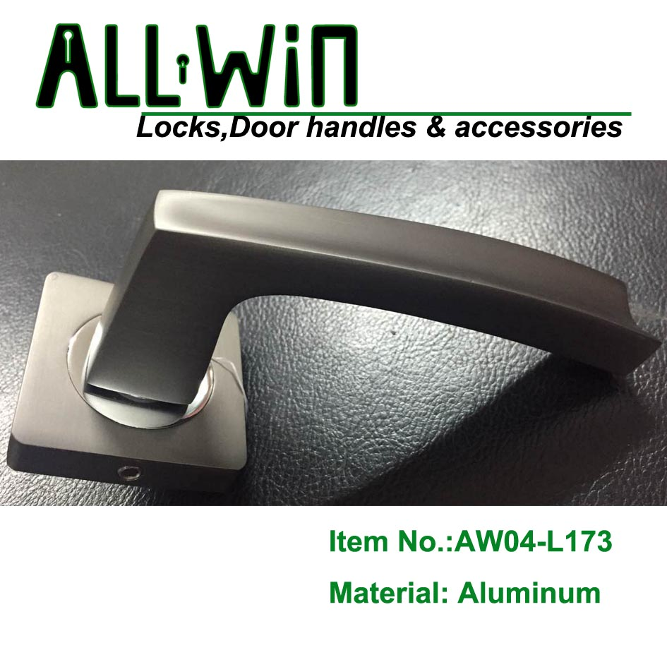 AW04-L173 Aluminum Door Handle on Round Rose