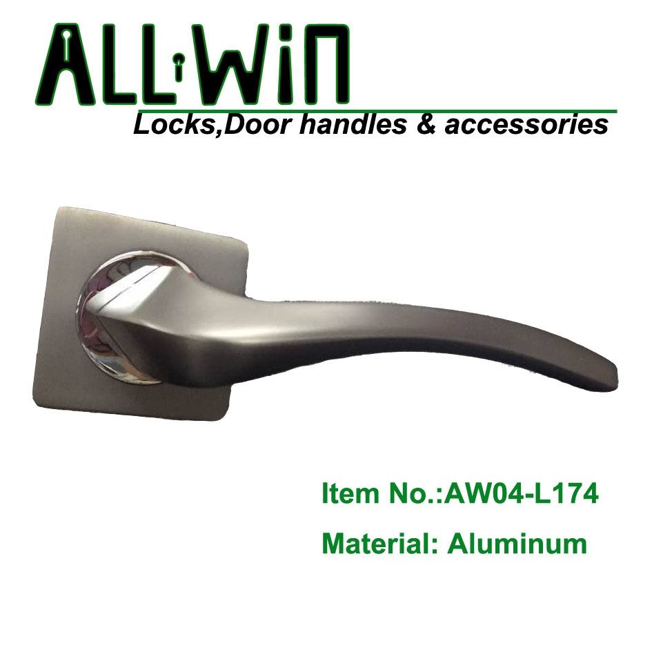 AW04-L174 New Mould Aluminum Door Handle on Round Rose