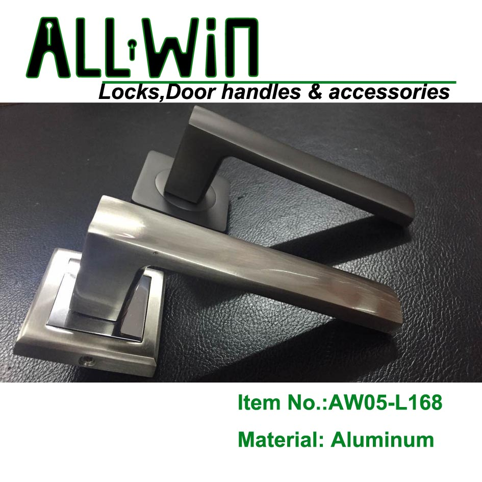 AW05-L168 New Mould Aluminum Door Handle on Round Rose